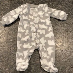 Polar bear onsie, fleece